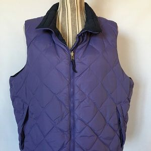 GOOSE DOWN Reversible Zip Vest 1X